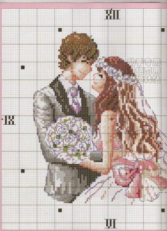 Coleção Casal Apaixonado Noivos e Casados BordadoPontoCruz com 10 1