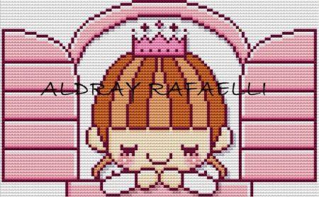 Coleção gráficos de Bonecas Princesas bordadopontocruz com 01
