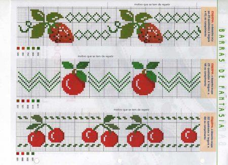 Cozinha Comidas Frutas e Vegetais BordadoPontoCruz com 14