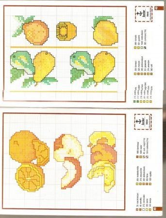 Cozinha Comidas Frutas e Vegetais BordadoPontoCruz com 28