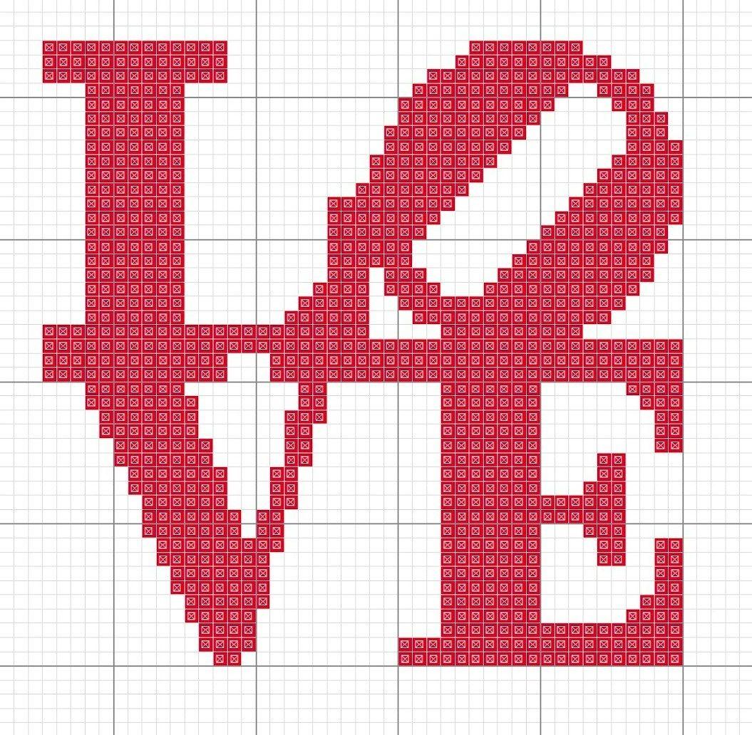 Frases I Love You Amor BordadoPontoCruz com 03