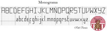 Monograma Alfabeto Pequenos BordadoPontoCruz com 02