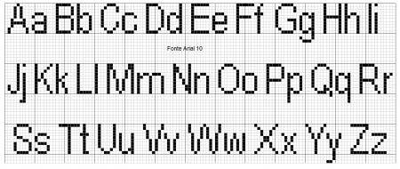 Monograma Alfabeto Pequenos BordadoPontoCruz com 03