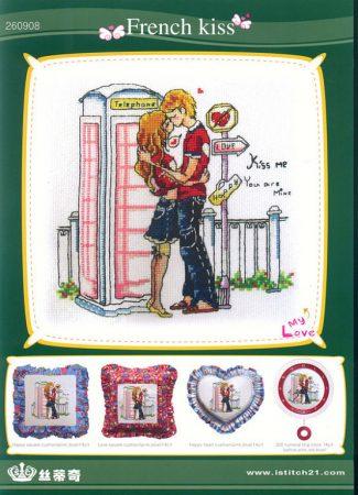 Namorados Apaixonados Casal Beijo Frances Soda BordadoPontoCruz com 1