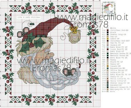 Natal e Papai Noel BordadoPontoCruz com 09