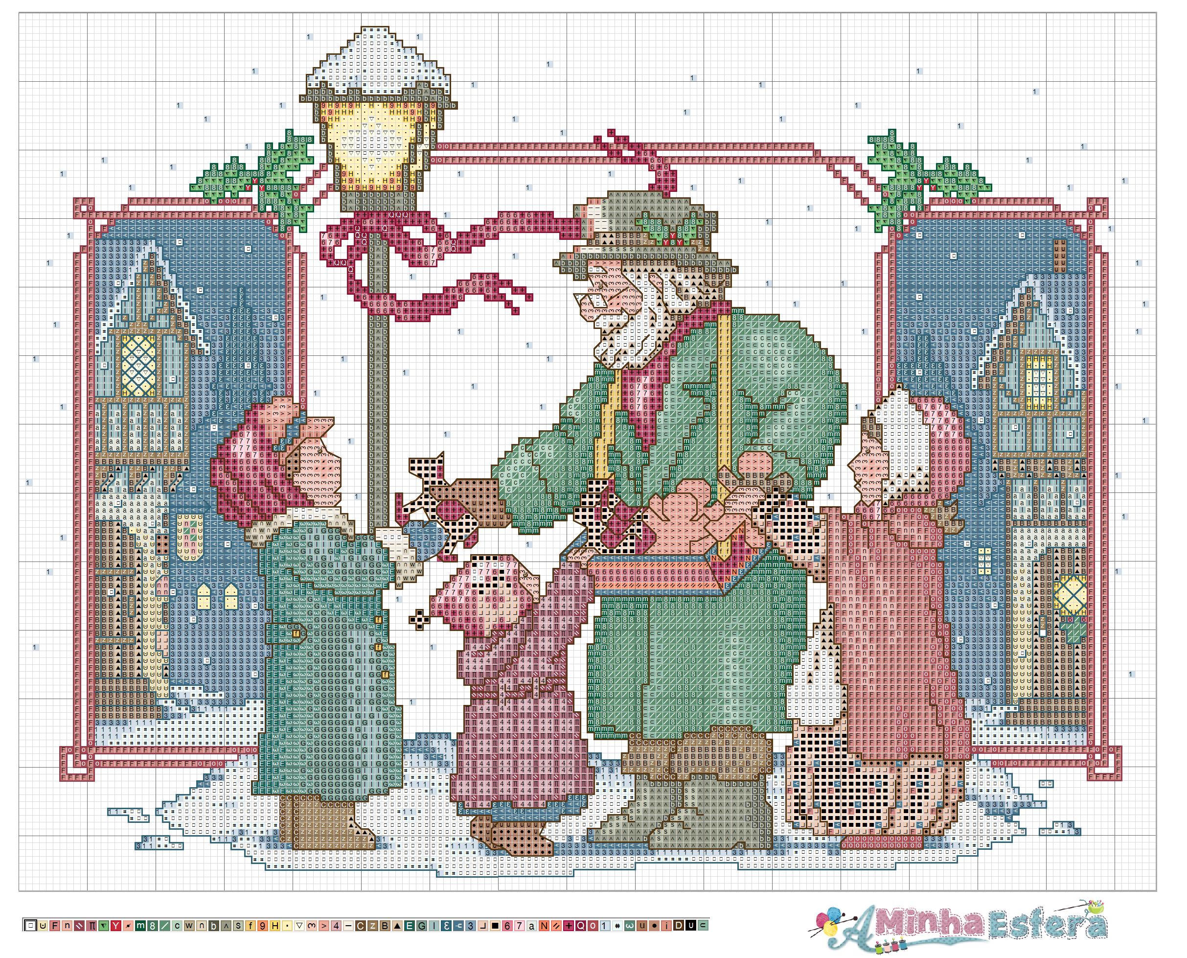 Natal e Papai Noel BordadoPontoCruz com 20