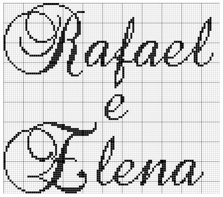 Rafael e Elena BordadoPontoCruz 02
