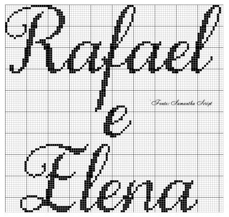 Rafael e Elena BordadoPontoCruz 04