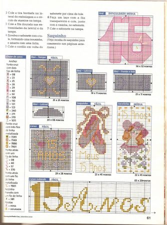 coleção 15 anos em ponto cruz bordadopontocruz com 06