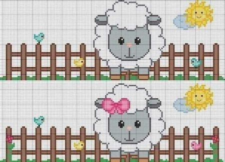 colecao de ovelha em ponto cruz 04