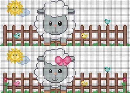 colecao de ovelha em ponto cruz 05