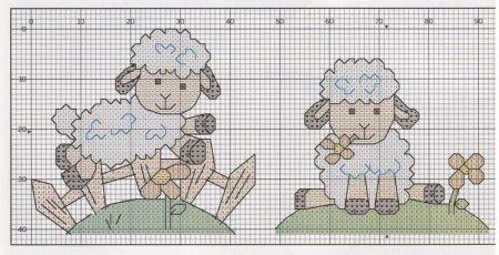 colecao de ovelha em ponto cruz 07