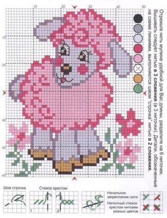 colecao de ovelha em ponto cruz 09