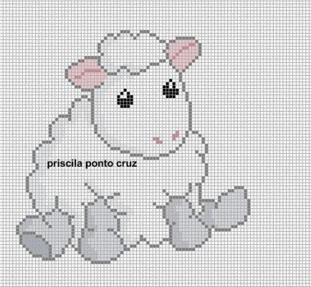 colecao de ovelha em ponto cruz 10