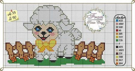colecao de ovelha em ponto cruz 23
