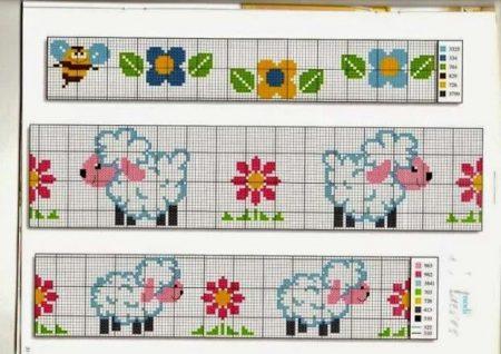 colecao de ovelha em ponto cruz 25