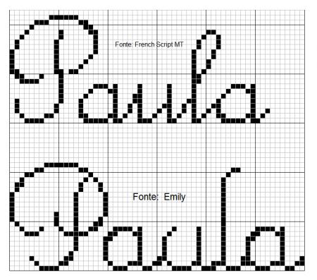 nome Paula BordadoPontoCruz com 03