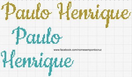 nome Paulo Henrique BordadoPontoCruz com 01