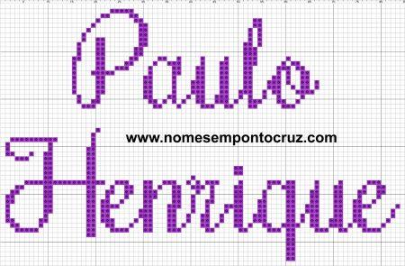 nome Paulo Henrique BordadoPontoCruz com 02