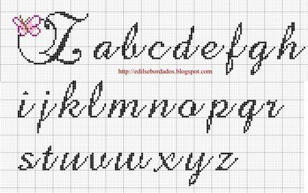 Monograma borboleta delicada pequeno 30 em ponto cruz 5