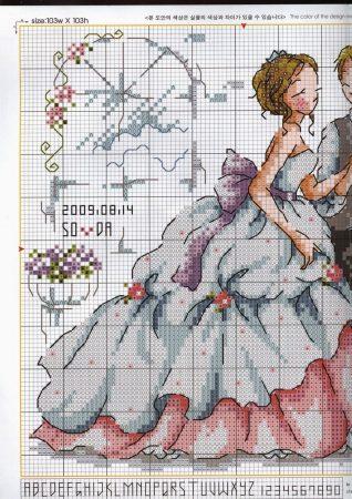 Namorados Apaixonados Casal Casamento Soda BordadoPontoCruz com 2