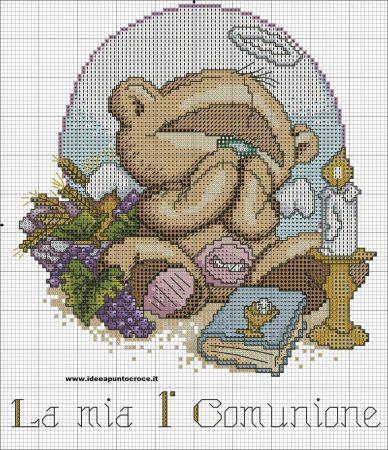 Urso Ursinho Fuzzy Moon BordadoPontoCruz 25