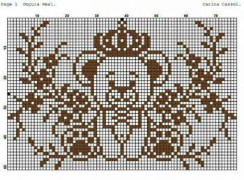 Urso Ursinho Príncipe Princesa Rei Rainha BordadoPontoCruz 04
