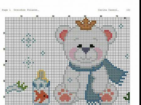 Urso Ursinho Príncipe Princesa Rei Rainha BordadoPontoCruz 06