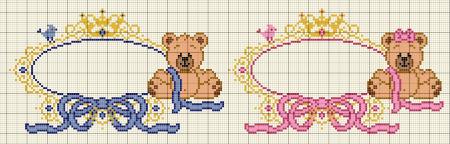 Urso Ursinho Príncipe Princesa Rei Rainha BordadoPontoCruz 08