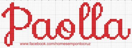 nome Paola BordadoPontoCruz com 03