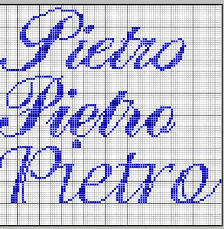 nome Pietro BordadoPontoCruz com 04