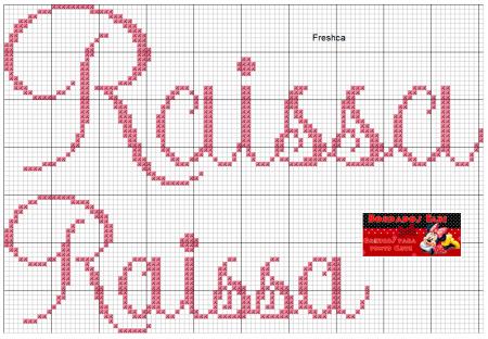 nome Raissa Rayssa BordadoPontoCruz com 06