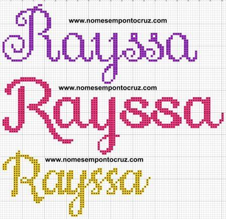 nome Raissa Rayssa BordadoPontoCruz com 07