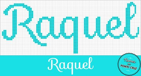 nome Raquel BordadoPontoCruz com 01
