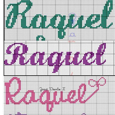 nome Raquel BordadoPontoCruz com 02