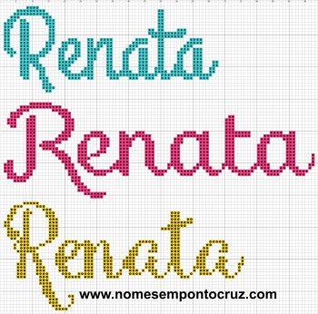 nome Renata BordadoPontoCruz com 04