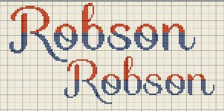 nome Robson BordadoPontoCruz com 01