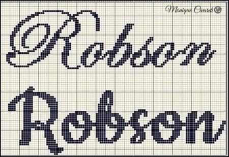 nome Robson BordadoPontoCruz com 03