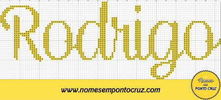 nome Rodrigo BordadoPontoCruz com 04
