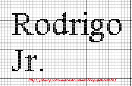 nome Rodrigo BordadoPontoCruz com 05