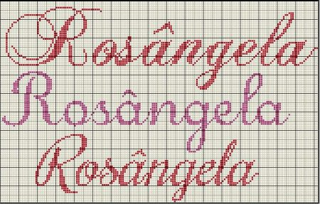 nome Rosângela BordadoPontoCruz com 03