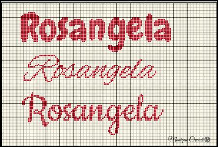 nome Rosângela BordadoPontoCruz com 04