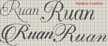 nome Ruan BordadoPontoCruz com 01