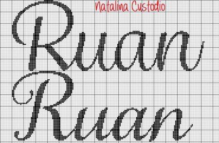 nome Ruan BordadoPontoCruz com 02 1