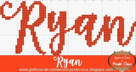 nome Ryan BordadoPontoCruz com 02
