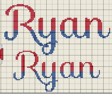 nome Ryan BordadoPontoCruz com 03