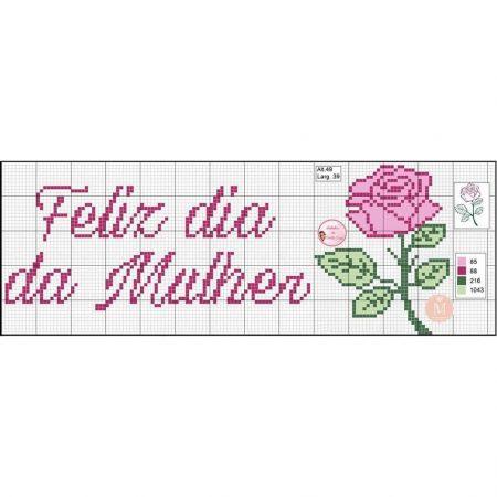 Feliz dia da Mulher BordadoPontoCruz com 03