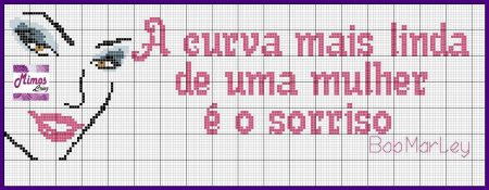 Frases Dia da Mulher BordadoPontoCruz com 01