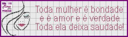 Frases Dia da Mulher BordadoPontoCruz com 03