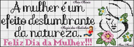 Frases Dia da Mulher BordadoPontoCruz com 08